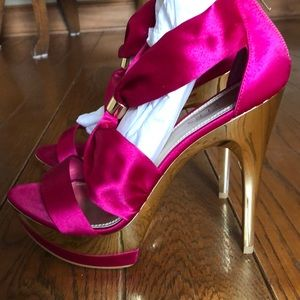 Bakers Dream platform Stilettos in pink size 9M